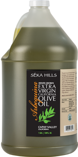 Estate Grown Arbequina Extra Virgin Olive Oil (1 Gallon)