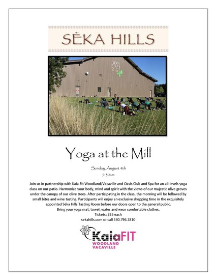 Yoga at the Mill August 4