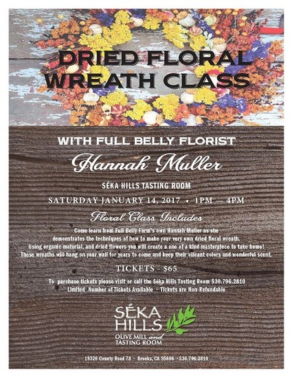 Dried Floral Wreath Class
