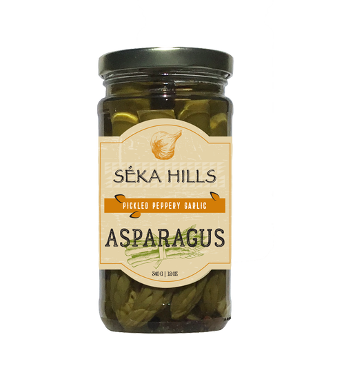 Pickled Peppery Garlic Asparagus